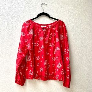 Universal Thread | Red Floral Puff Sleeve Blouse